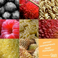 Inspirations! A close up look at the textures in food ~ like fruits and pasta!