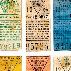 History of the Argentina bus tickets.