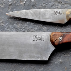 Blok Knives - Ben Edmonds is a Derbyshire-based knife maker who produces the most exquisite and simple kitchen knives from carbon steel and beautiful woods.