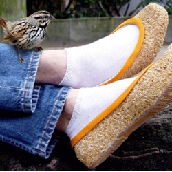 'For the Birds' are seed-covered shoes to get through the winter by bringing man and nature a little bit closer...