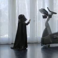 Amazing VW campaign with a mini-Darth Vader, using 'the Force' on a Volkswagen Passat, accompanied by the music of the Imperial March.