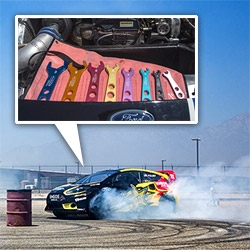 "Ford Racing's 600hp Fiesta rallycross cars are in LA for the X Games and I got ride with rally champ, Toomas ""Topi"" Heikkinen while drifting at 100mph! See pics and videos of the cars, tools, and some serious driving..."