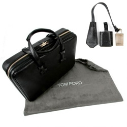 Tom Ford's sexy new computer bag ~ locks and all...