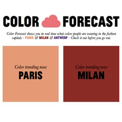 Pimkie Color Forecast, a web project to share color trends on the streets!