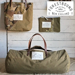 Forestbound - Forestbound uses exclusively found and salvaged textiles to create a line of durable, utilitarian tote bags. Alice Saunders, a Boston-based designer, puts great effort into hunting for well-worn historic fabrics and hardware throughout New England.