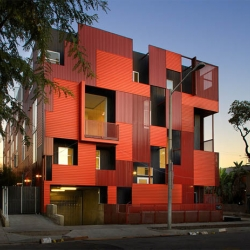 Formosa 1140 designed by Lorcan O'Herlihy Architects (LOHA) is a new eleven-unit housing project in West Hollywood, California.