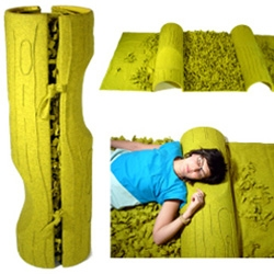 Forest Roll ~ the ultimate in textured/roll-away rugs? From Aguiniga Design