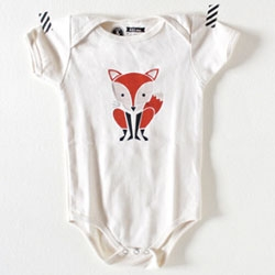 Sass & Peril adorable Red Fox screenprinted onesie (also on baby tees... and other animals available as well!)