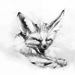 'Taste of Glory' Fox print by Alexis Marcou over at Eyes On Walls. Also check out the stunning Owl, Rabbit, and Skull.