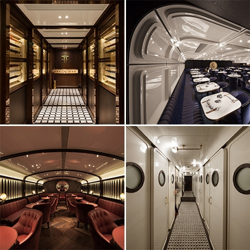Foxglove - whisky bar/speakeasy in Hong Kong. You enter through the umbrella store into the world of the possibly fictitious wealthy adventurer, Frank Minza... designed by NC Design and Architecture.