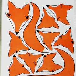 Print Pattern has a great roundup of foxes on prints, pillows, jewelry and more
