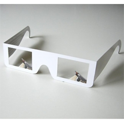 First-person shooter glasses. [Editor's Note: HA! Just incase you feel safest when wandering around a virtual world seeing your gun in front of you... now for the real world too!]