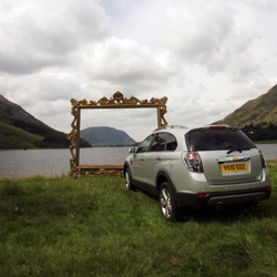 Chevrolet creates drive-in viewing points of Britain's most spectacular scenic landscapes.