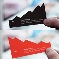 Cute business cards for a financial advisor by Rethink.