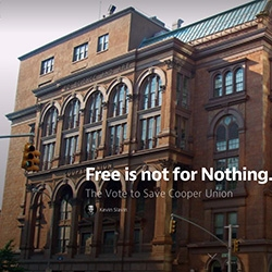 """Free is not for nothing. The vote to save Cooper Union."" Good read by Kevin Slavin about  the importance and true meaning of free."
