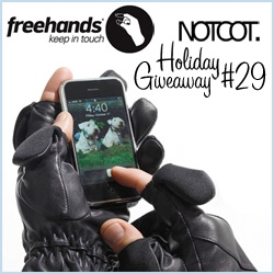 NOTCOT Holiday Giveaway #29 - Josh Rubin of CoolHunting and his dad (a 2nd gen glove maker!) have teamed up to create Freehands, gloves that keep you warm and let you have easy access to your fingertips for touch screens!