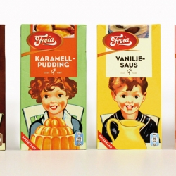 Wonderful retro packaging for Freia by Tangram Design!
