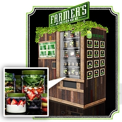 Farmer's Fridge Kiosk ~ a vending machine in Chicago filled with freshly made salads