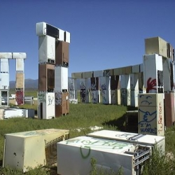 Fridgehenge - Stonehenge Replica.