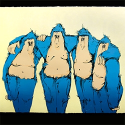 "Isabelle Alford-Lago - ""The Boys, 2014"" - 6 Color Screen Print - Limited Edition of 25-  from Intellectual Property Prints"
