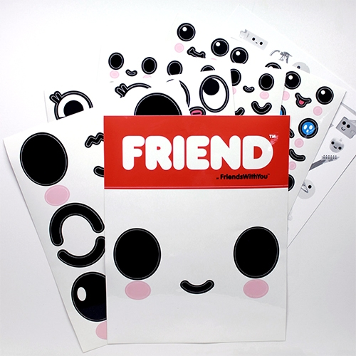 Friends With You STICKER PACK! Could this be better than googly eyes?!?!?! Their instagram video showing them off is too fun! (And if you haven't played with it yet, their cloud head instagram filter is pure happiness.)