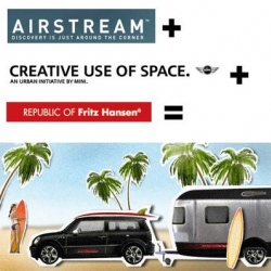 MINI, Airstream and The Republic of Fritz Hansen have teamed up to create a special surfer MINI Cooper S Clubman and Airstream trailer with a beautifully designed interior. Cowabunga!