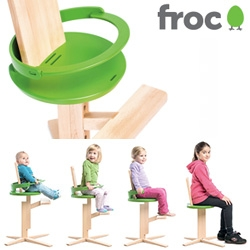 Froc - interesting wooden hi-chair design that grows and evolves with your child into a normal chair...