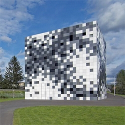 Frog Queen, or the Prisma Engineering Headquarters, in Austria looks like a pixelized cube - making for an interesting, eye-catching appearance.