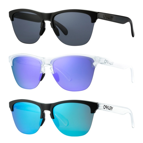 Oakley Frogskins Lite. Oakley takes their iconic sunglasses semi-rimless.