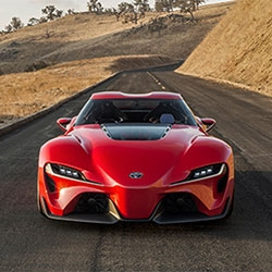 Toyota reveals the FT-1 concept car at the Detroit Auto Show. The track-focused sports car was created by CALTY Design Research in Newport, CA.