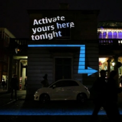 Interactive projection mapping for Nokia Ovi Maps Activation in Covent Garden. Produced by Seeper.
