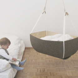 This nice hanging felt cradle by German designers at Fubu 11.