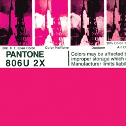 """Yummy out-of-print old-school """"PANTONE by Letraset"""" posters."""