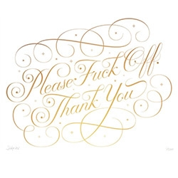 'Please & Thank You' - A new limited edition print from Seb Lester