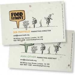 Branding for Food Up Front, a scheme that encourages people to use their front gardens for growing food. The identity is adaptable and the business cards have seeds in them!