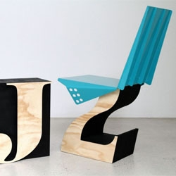 Justin Lamont's Full Moon and Hybrid chairs.