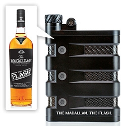 The Macallan and Oakley team up for The Flask - hardcore Oakley flask on the outside, The Macallan's first-ever, single cask All American Sherry Oak Scotch Whisky on the inside. And amazing video with fun cars of them testing it.