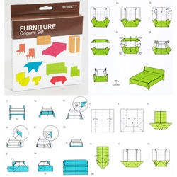 Furniture Origami Set at Fred Flare.