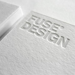 Minimalist stationery by Nottingham based Fuse Design.