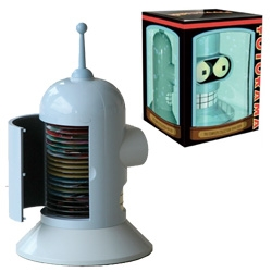 Wow Futurama Complete Collection ~ comes in a huge Bender head! with 18 discs inside!