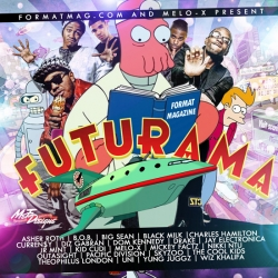 Formatmag.com spoofs generic mixtape cover design with their Futurama release - a perfect parralel to what most of the artists on the CD are creating musically.