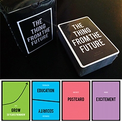 "'The Thing From The Future' Card Game by Situation Lab - ""an imagination game that challenges players to collaboratively and competitively describe objects from a range of alternative futures."""