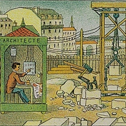 Illustrations from 1910 predict our post-industrial future.