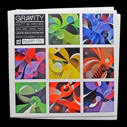 "Gravity Exhibition Prints, poster set,  8 – 12"" x 12"" prints, signed, numbered, ready for frames! By Matt W. Moore."