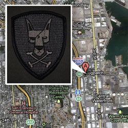 Dogpatch, San Francisco. Love the Triple Aught Gear morale patches they made with the pirate dog! Available in velcro patch and glow in the dark ranger eyes.