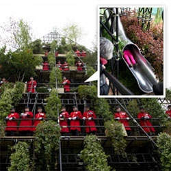 Unbelievable 7 level Westland Magical Garden complete with 5 story SLIDE! Designed by Diarmuid Gavin and home to over 3,000 plants!