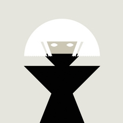 Strikingly minimalist style Lady Gaga tour poster by Workerman.