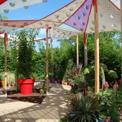 Let's Celebrate and weave [bio]diversity. With Sandra Dufour (artist), Simon Visconti (architect) and Manon Bordet (landscape designer). This garden takes place to the international garden Festival at Chaumont-sur-Loire (France