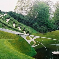 Open to the public only one day a year, the Garden of Cosmic Speculation takes science and maths as its inspiration. The garden was set up by Charles Jencks, together with his late wife Maggie Keswick in Portrack House near Dumfries.
