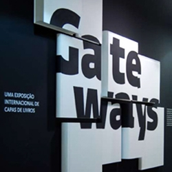 Gateways: International Exhibition of Book Covers is a beautifully curated show inside a shopping center in Portugal. The exhibition catalog is filled with info and inspiration pertaining to the field of book cover design...